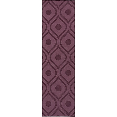 Varick Gallery Castro Purple Geometric Zara Area Rug; Runner 2'3'' x 12'