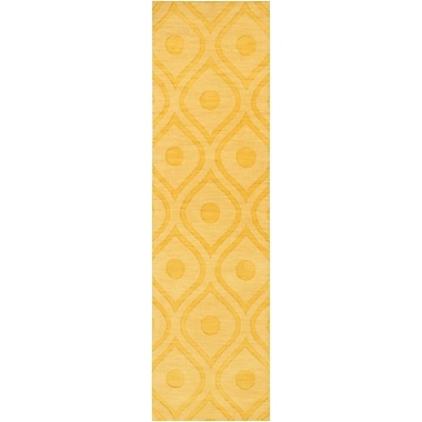 Varick Gallery Castro Yellow Geometric Zara Area Rug; Runner 2'3'' x 14'