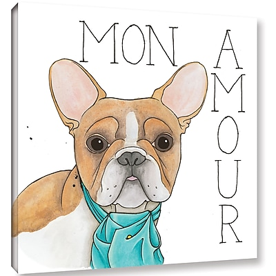 Varick Gallery 'Puppy Love Frenchie Color' Print on Canvas; 24'' H x 24'' W x 2'' D