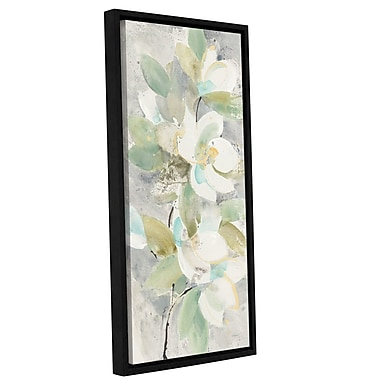 Varick Gallery 'Water Lilies' Framed Print on Canvas; 18'' H x 12'' W x 2'' D