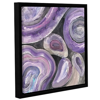 Varick Gallery 'Water Lilies Bright' Framed Print on Canvas; 18'' H x 12'' W x 2'' D