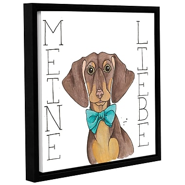 Varick Gallery 'Puppy Love Dachshund Color' Framed Print on Canvas; 18'' H x 18'' W x 2'' D