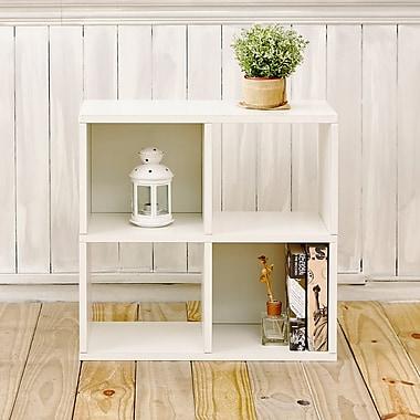 Varick Gallery Andrade Quad 25''Cube Unit Bookcase; Aspen White