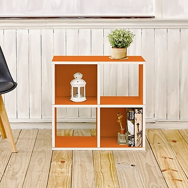 Varick Gallery Andrade Quad 25''Cube Unit Bookcase; Orange