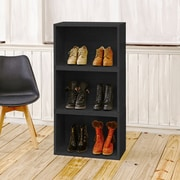 Varick Gallery Andrade Stackable Rectangle Plus 16'' Cube Unit Bookcase; Black