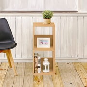 Varick Gallery Andrade Duo Eco 2-Shelf Narrow 30'' Cube Unit Bookcase; Natural