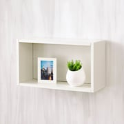 Varick Gallery Andrade Wall Rectangle Eco Decorative Accent Shelf; Aspen White