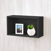 Varick Gallery Andrade Wall Rectangle Eco Decorative Accent Shelf; Black