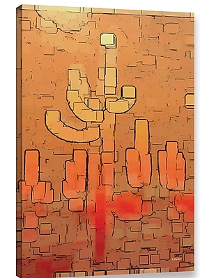 Varick Gallery 'Modern Saguaro' Graphic Art Print on Canvas; 48'' H x 32'' W x 2'' D