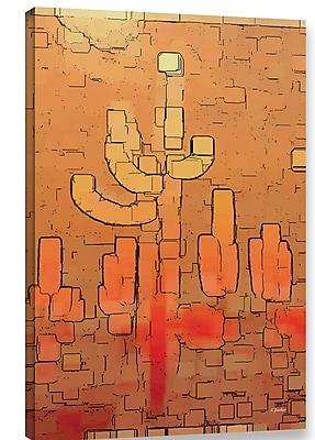 Varick Gallery 'Modern Saguaro' Graphic Art Print on Canvas; 18'' H x 12'' W x 2'' D