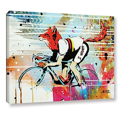 Varick Gallery 'Le Fox' Graphic Art Print on Canvas; 36'' H x 48'' W x 2'' D