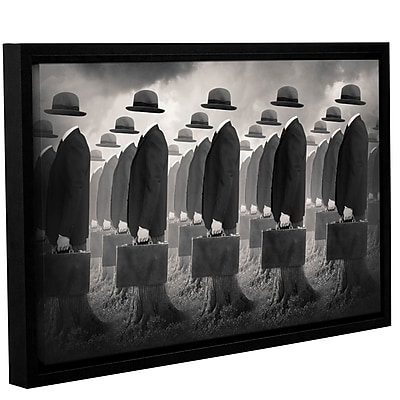 Varick Gallery 'Army' Framed Graphic Art Print on Canvas; 24'' H x 36'' W x 2'' D