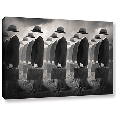 Varick Gallery 'Army' Graphic Art Print on Wrapped Canvas; 12'' H x 18'' W x 2'' D