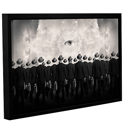 Varick Gallery 'Drones' Framed Graphic Art Print on Canvas; 32'' H x 48'' W x 2'' D