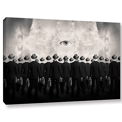 Varick Gallery 'Drones' Graphic Art Print on Canvas; 8'' H x 12'' W x 2'' D