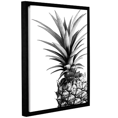 Varick Gallery 'Pineapple BW' Framed Photograpic Print on Canvas; 24'' H x 18'' W x 2'' D