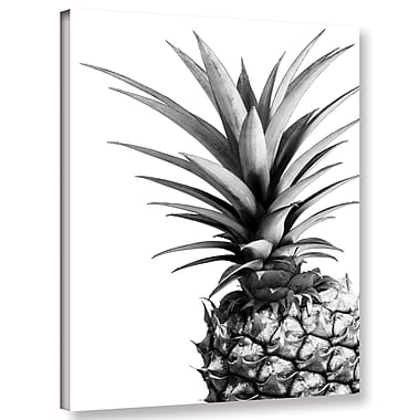 Varick Gallery 'Pineapple BW' Photographic Print on Canvas; 10'' H x 8'' W x 2'' D
