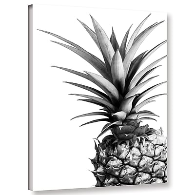 Varick Gallery 'Pineapple BW' Photographic Print on Canvas; 18'' H x 14'' W x 2'' D