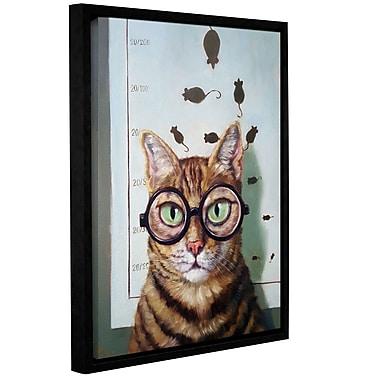 Varick Gallery 'Feline Eye Exam' Framed Graphic Art Print on Canvas; 10'' H x 8'' W x 2'' D