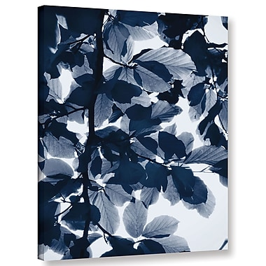 Varick Gallery 'Indigo Leaves' Graphic Art Print on Canvas; 10'' H x 8'' W x 2'' D