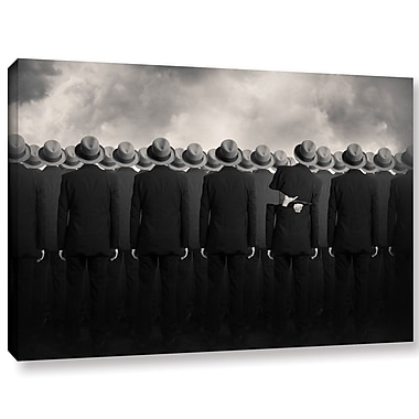 Varick Gallery 'Shell' Graphic Art Print on Canvas; 16'' H x 24'' W x 2'' D