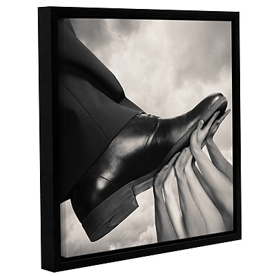 Varick Gallery 'Untied' Framed Graphic Art Print on Canvas; 12'' H x 8'' W x 2'' D