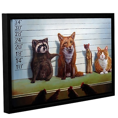 Varick Gallery 'Usual Suspects' Framed Graphic Art Print on Canvas; 8'' H x 12'' W x 2'' D