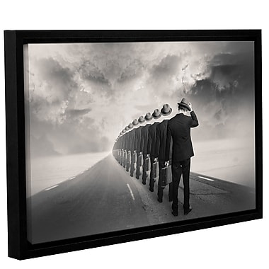 Varick Gallery 'Get in Line' Framed Graphic Art Print on Canvas; 12'' H x 18'' W x 2'' D