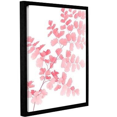 Varick Gallery 'Pink Maidenhair' Framed Graphic Art Print on Canvas; 48'' H x 36'' W x 2'' D