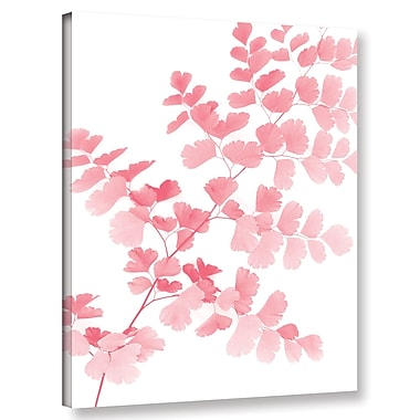 Varick Gallery 'Pink Maidenhair' Graphic Art Print on Canvas; 18'' H x 14'' W x 2'' D
