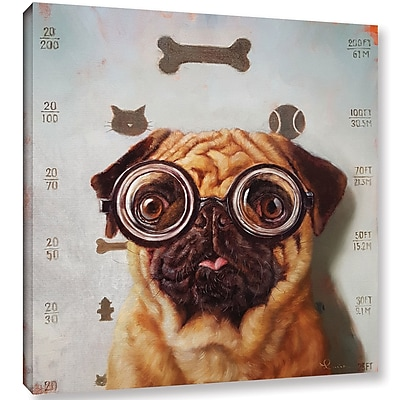 Varick Gallery 'Canine Eye Exam' Graphic Art Print on Canvas; 10'' H x 10'' W x 2'' D