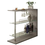 Varick Gallery Canela Bar w/ Wine Storage