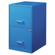Varick Gallery Chaidez 2 Drawer File Cabinet; Blue