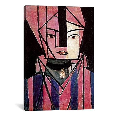 Varick Gallery White and Pink Head Painting Print on Wrapped Canvas; 26'' H x 18'' W x 0.75'' D