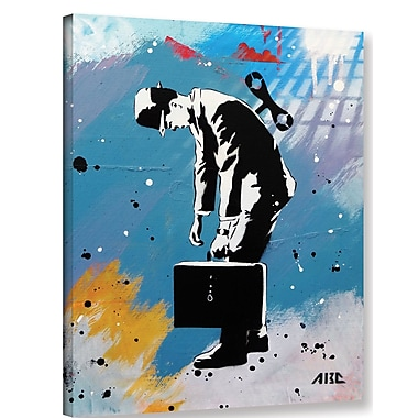 Varick Gallery 'Windup for the Wind down' Graphic Art Print on Canvas; 24'' H x 18'' W x 2'' D