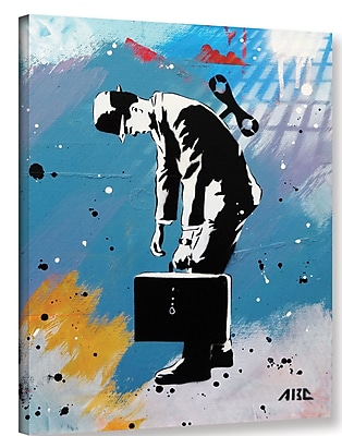Varick Gallery 'Windup for the Wind down' Graphic Art Print on Canvas; 10'' H x 8'' W x 2'' D