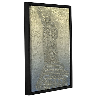 Varick Gallery 'NYC Lady of Light' Framed Graphic Art Print on Canvas; 18'' H x 12'' W x 2'' D