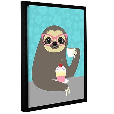 Varick Gallery 'Diva Sloth' Framed Graphic Art Print On Canvas; 24'' H x 18'' W x 2'' D