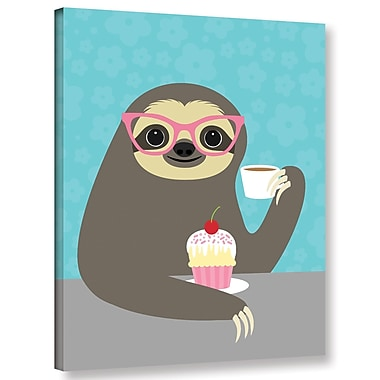 Varick Gallery 'Diva Sloth' Graphic Art Print On Wrapped Canvas; 10'' H x 8'' W x 2'' D