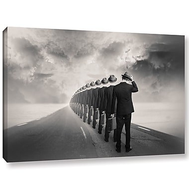 Varick Gallery 'Get in Line' Graphic Art Print on Canvas; 12'' H x 18'' W x 2'' D