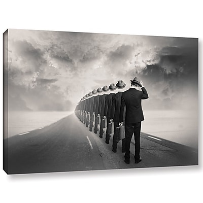 Varick Gallery 'Get in Line' Graphic Art Print on Canvas; 24'' H x 36'' W x 2'' D