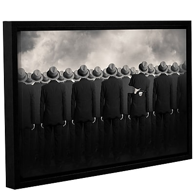 Varick Gallery 'Shell' Framed Graphic Art Print on Canvas; 12'' H x 18'' W x 2'' D