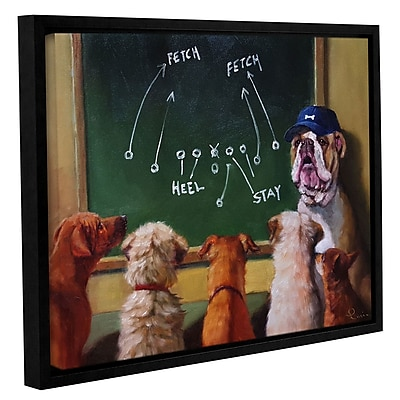 Varick Gallery 'Game Plan' Framed Graphic Art Print on Wrapped Canvas; 36'' H x 48'' W x 2'' D