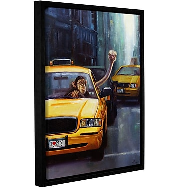 Varick Gallery 'Rush Hour' Framed Painting Print on Canvas; 10'' H x 8'' W x 2'' D