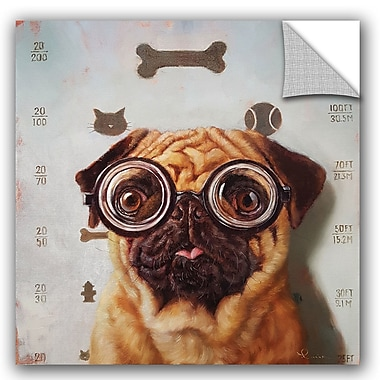 Varick Gallery Balbo Canine Eye Exam Wall Decal; 14'' H x 14'' W x 0.1'' D