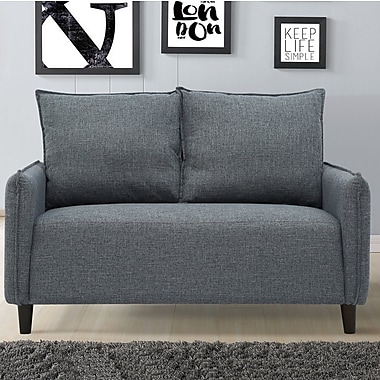 Varick Gallery Almondsbury Morden Loveseat; Dark Gray