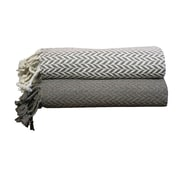 Varick Gallery Cevenola Cotton Throw Blanket; Lavender Ash