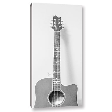 Varick Gallery 'Grayscale Acoustic Guitar' Painting Print On Wrapped Canvas; 12'' H x 6'' W x 2'' D