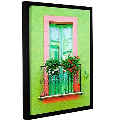 Varick Gallery 'French Green Wall' Framed Photographic Print On Canvas; 48'' H x 36'' W x 2'' D