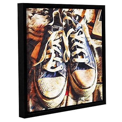 Varick Gallery 'Old Blue Chucks' Framed Photographic Print On Canvas; 14'' H x 14'' W x 2'' D